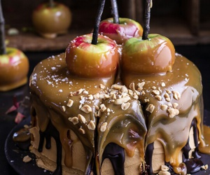 cake, apple, and food image
