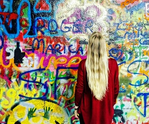 art, hair, and travel image