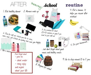 after school, routine, and school image