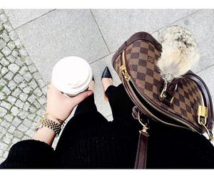 alma, coffee, and Damier image