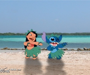 beach, hula, and lilo image