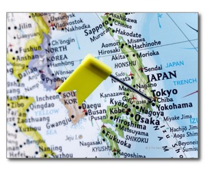 japan, postcard, and map image