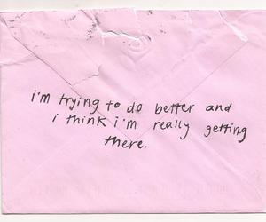 pink, quotes, and Letter image