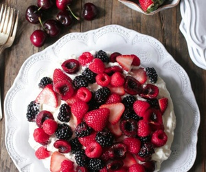 strawberries, dessert, and food image