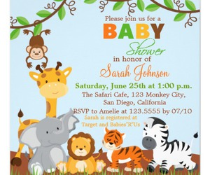 animals, baby, and baby shower image