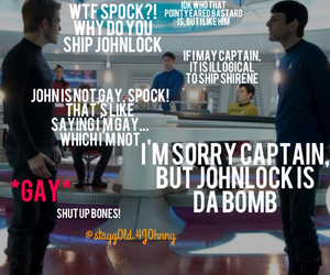 captain kirk, sherlock, and spock image