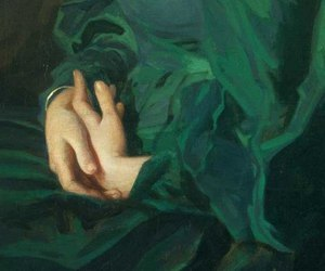 art, green, and hands image
