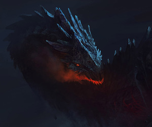 color, dragon, and fire. image