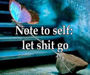 butterfly, quote, and let go image