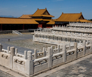 architecture, beijing, and Forbidden city image