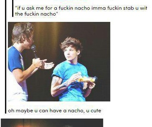 nachos, louis tomlinson, and larry stylinson image
