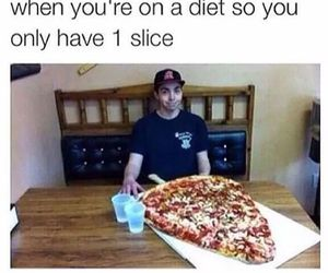 pizza, funny, and diet image