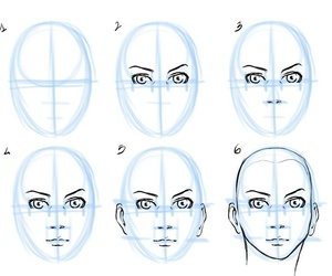 draw, eyes, and face image