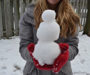 winter, christmas, and snowman image