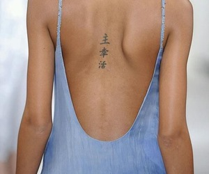 tattoo, model, and dress image