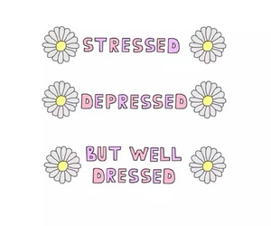 depressed, stressed, and flowers image