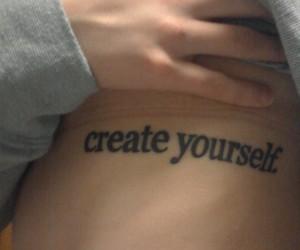 girl, tattoo, and create yourself image