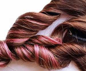 pink hair, boho chic, and ombre hair image