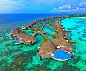 beautiful, Maldives, and retreat image