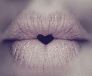 heart, lips, and kiss image