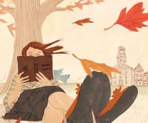 book, autumn, and art image