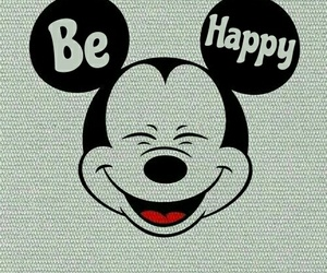background, happy, and mickey image