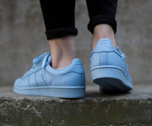 blue, adidas, and superstar image