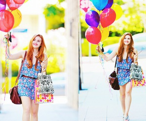 balloons, girl, and holland roden image