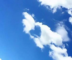 beautiful, sky, and heart image