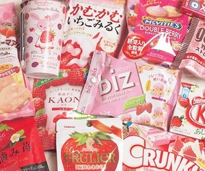 food, strawberry, and candy image
