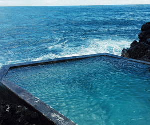 ocean, blue, and nature image