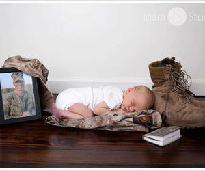 baby, soldier, and child image