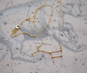 stars, necklace, and gold image