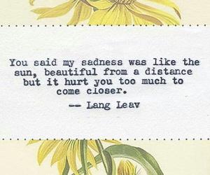 beautiful, Lang Leav, and sadness image