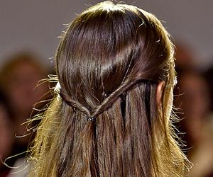 hair, nyfw, and runway image