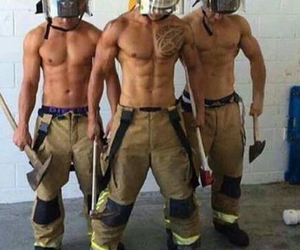 boy, muscel, and fire image