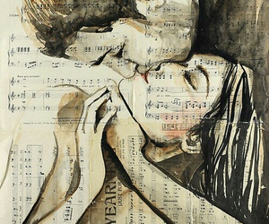 love, kiss, and music image