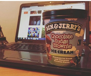 ben and jerrys, chocolate, and we heart it image