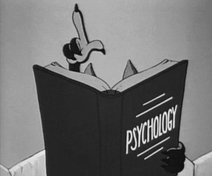 psychology, black and white, and cartoon image