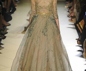 fashion, long dresses, and Couture image