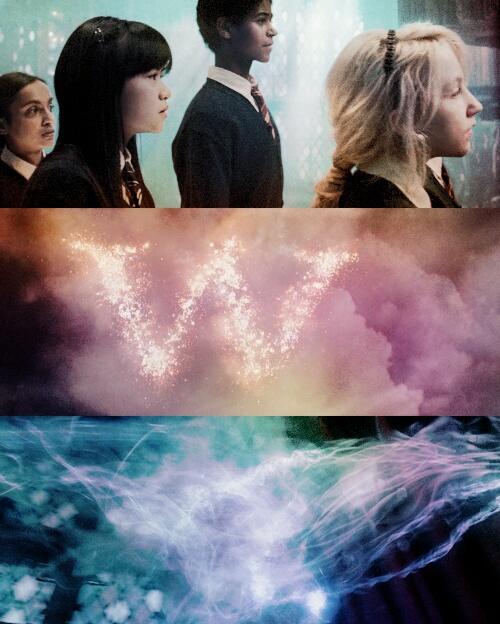 harry potter, luna, and weasley image
