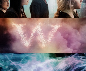 harry potter, luna, and weasley image