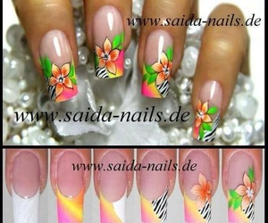 colorful, french, and nail art image