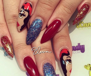 disney, nails, and disney nails image