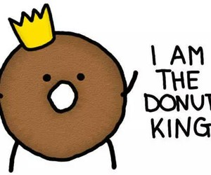 donuts, king, and funny image