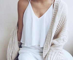 cardigan, fashion, and top image