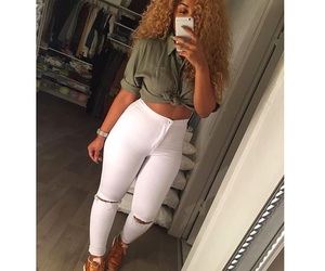 curly hair and tumblr image