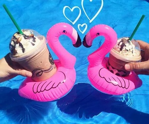summer, starbucks, and pink image