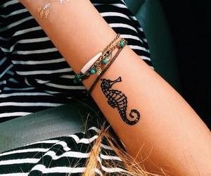 tattoo, seahorse, and tatto image