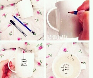 diy, tea, and cup image